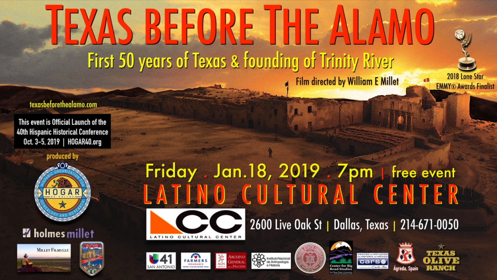"""Texas Before The Alamo"" Film will be premiered at Latino Cultural Center"