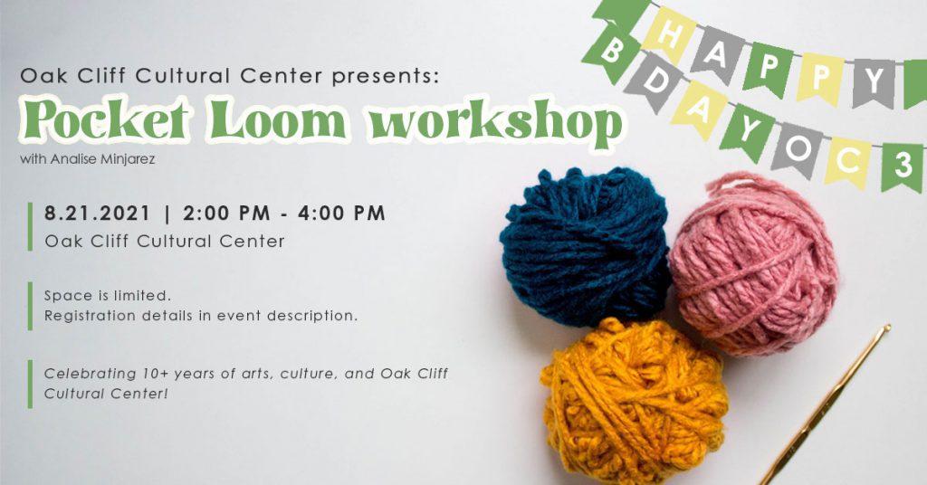 Aug. 21 | Pocket Loom workshop: with Analise Minjarez