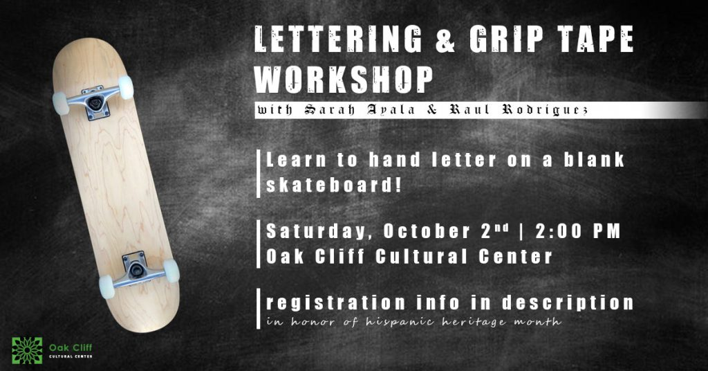 Oct. 2 | Lettering and Grip Tape Workshop