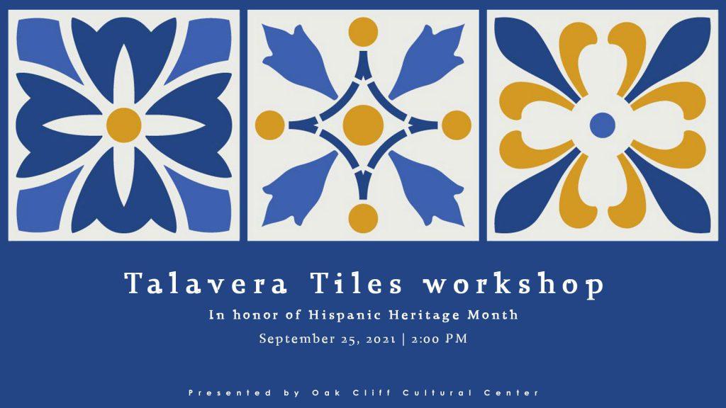 Sept. 25 | Talavera Tiles workshop